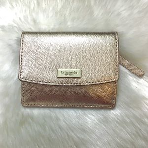 NWT Kate Spade New York Rose Gold Wallet